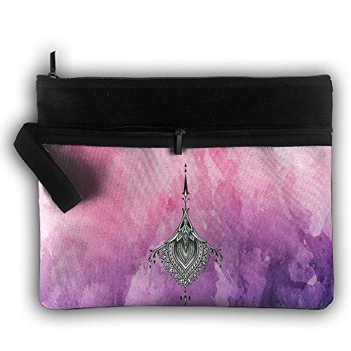 Zhaoqian Hip Hop Hippie Strange Pouches Cosmetic Toiletry Makeup Bag For Women Men Accessories Pouch Double Decker Zipper Durable Handle by Zhaoqian
