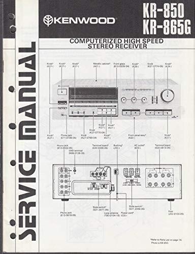 ORIGINAL Service Manual: Kenwood KR-860 KR-850G High-Speed Stereo Receiver 1982