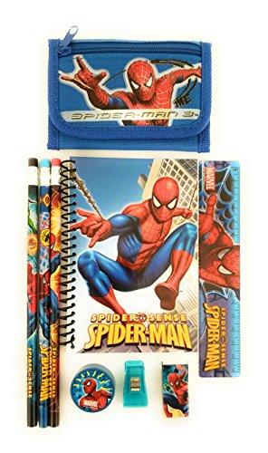 Marvel Spider Man Stationery - Marvel Spiderman Wallet FREE Stationery Set Gift for boys