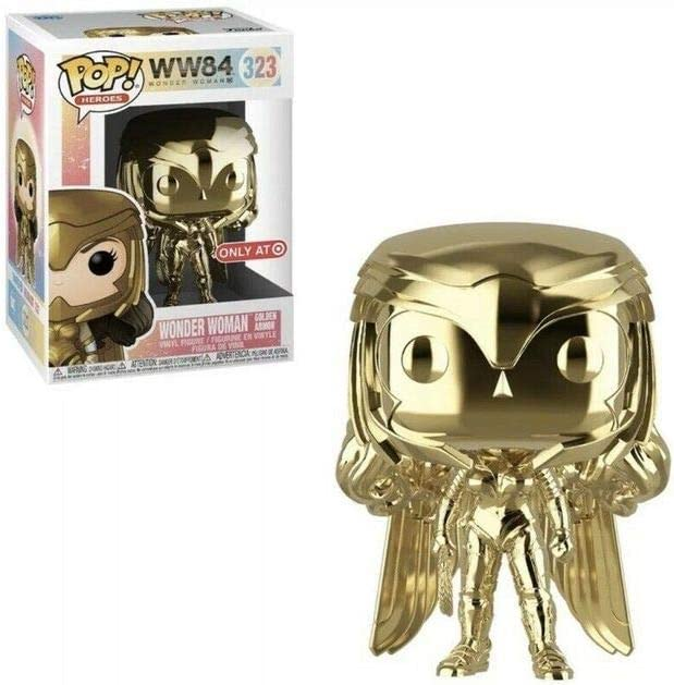 FUNKO POP WONDER WOMAN 1984 WONDER WOMAN GOLDEN ARMOR GOLD CHROME #323 EXCLUSIVE