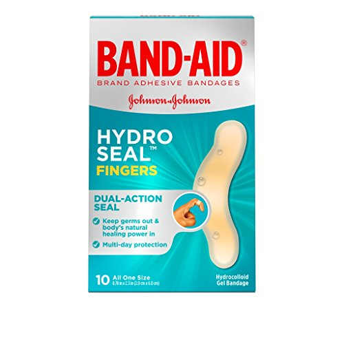 Band-Aid Hydro Seal Fingers, 10 Count(One Size) each (Pack of 4) ()