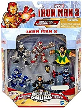 Iron Man 3 Super Hero Squad Exclusive 6-Pack Armored Mission Pack ...