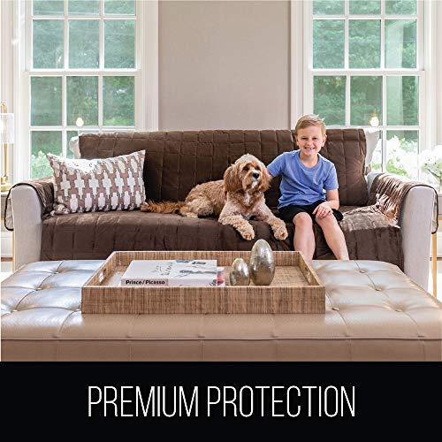 """Gorilla Grip Velvet Sofa Slipcover Width Up Patent Pending, 2"""" Couch Dogs"""