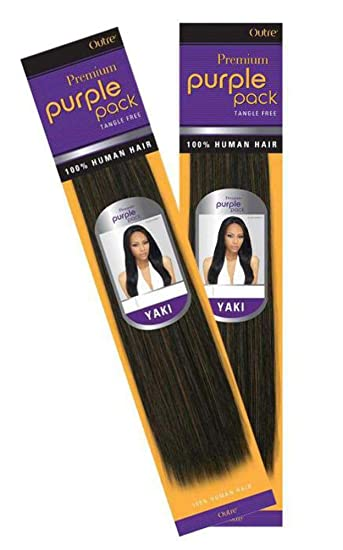 b4384736d0a678 Amazon.com : Outre Purple Pack 100% Human Hair Weave (10 inches, 1(Jet  Black)) : Hair Extensions : Beauty