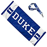 WinCraft Bundle 2 Items: Duke University Blue Devils Cooling Towel 12x30 inches and Key Strap Key Chain