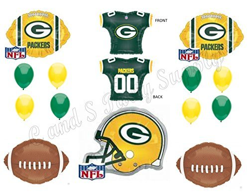 GREEN BAY PACKERS JERSEY Birthday Party Balloons Decoration Supplies ()