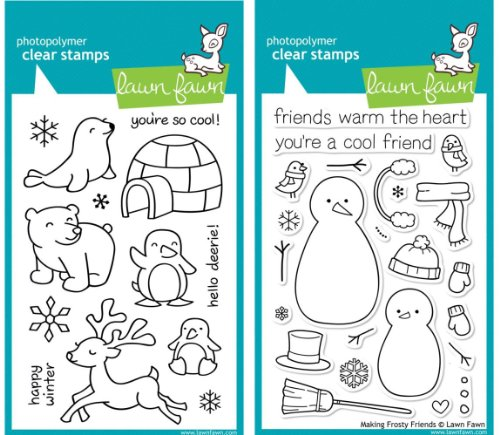 Lawn Fawn Stamp Set - Crttiers in the Snow & Making Frosty Friends (LF312-362)