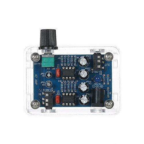 KKmoon 47 Amp DIY NE5532 Hi-Fi Headphone Amplifier Kit with Transparent Housing DC 9V to 18V