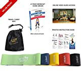 Fit Simplify Resistance Loop Exercise Bands with Instruction Guide, Carry Bag, EBook and Online Workout Videos, Set of 5 Variant Image