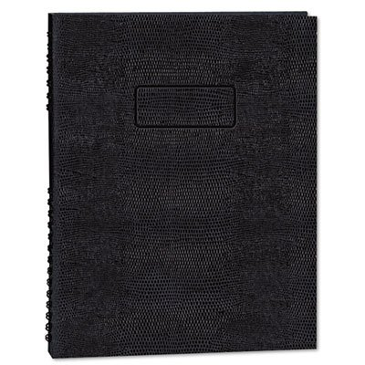 Exec Wirebound Notebook, College/Margin Rule, 9-1/4 x 7-1/4, BLK, 75 Sheets, Sold as 1 Each - Exec Wirebound Notebook