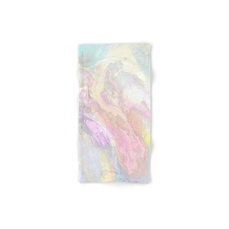 Society6 Pastel iridiscente mano y toalla de baño, multicolor, Set of 4 (2