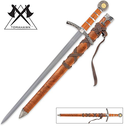 Middle Ages Broad Sword & Scabbard