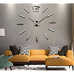 2017 hot sale wall clock large decorative wall clocks home decor diy clocks living room reloj mural wall sticker