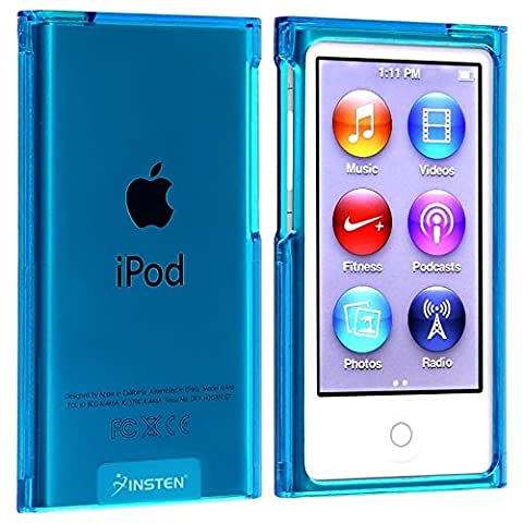 Insten Snap-On Slim Case for Apple iPod nano 7G, Clear Blue (Ipod Touch Gen3 Case)