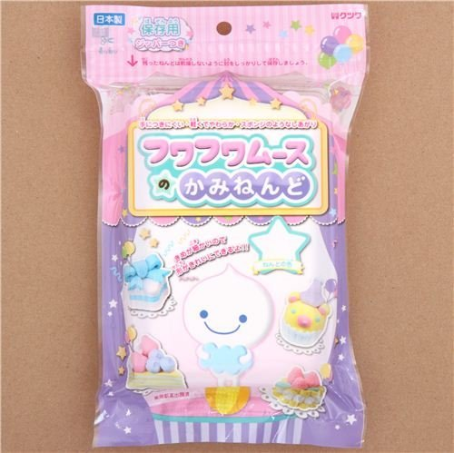 white Fuwa Fuwa mousse clay coloring clay Japan decoden Kutsuwa Clay