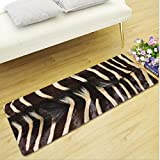KRWHTS Animal Zebra Print Trendy Design Luxury Microfiber Washable Bath Rug For Floor Bathroom Bedroom Living Room