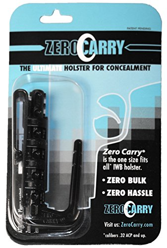 The Ultimate Gun Holster - Zero Carry V1.0 - Lightweight, Zero-Bulk, Concealed Carry Holster - One Size Fits All (.32 ACP and Up) - Fits Up to 5