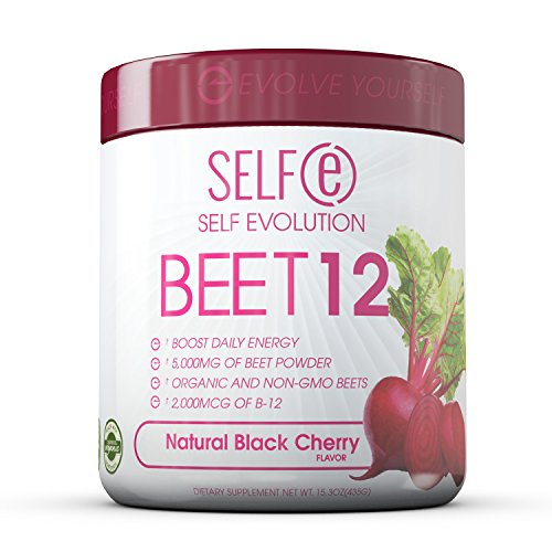 - BEET12 - Beet Powder Plus Vitamin B-12 (2,000mcg) - Black Cherry - 30 Servings (180g)