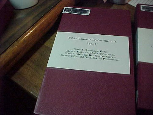 Ethical Issues In Professional Life Tape 2 VHS