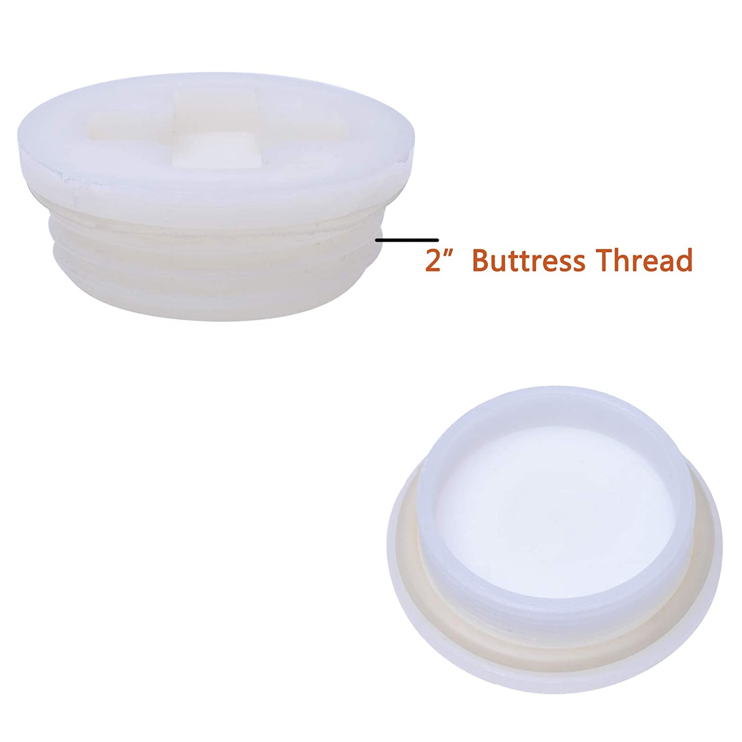 """12 Pack Combo of Bung Cap 2/""""with 3//4/""""Knock Out Fine Thread and Coarse Thread with Gasket for 55 Gallon Drum"""