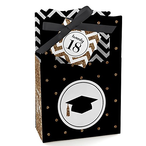 Gold Tassel Worth The Hassle - 2018 Graduation Party Favor Boxes - Set of 12 -