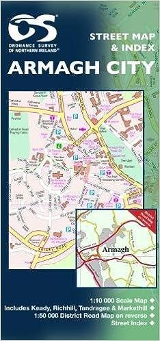Os Map Of Ireland.Armagh City Street Maps Irish Street Maps Amazon Co Uk