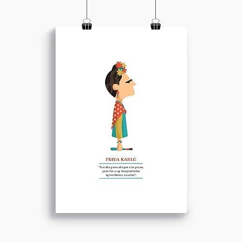 "L/ámina disponible en dos medidas Ilustraci/ón /""Frida Kahlo A4 A3 Incluye frase de la pintora mexicana."