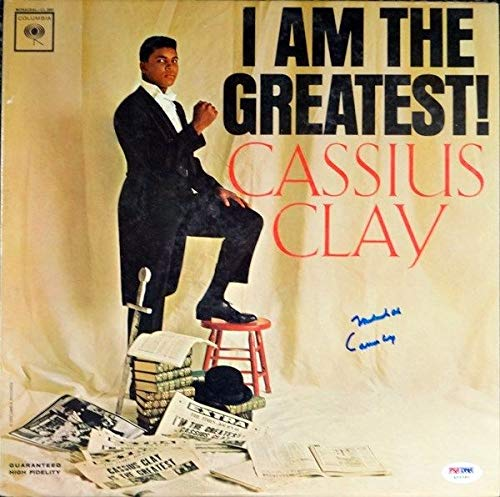 "Muhammad Ali""Cassius Clay"" Autographed 1963 I Am The Greatest Album Cover PSA/DNA #H56380"
