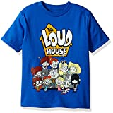 Nickelodeon Little Boys' The Loud House Short Sleeve T-Shirt, Royal, S-4