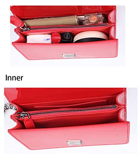 For Chain Sheli In A Leather Per Handbags Crossbody Borsa Bag Borsette Vernice Tracolla Women Donna Rosa Catena And Purses E rq0qRf