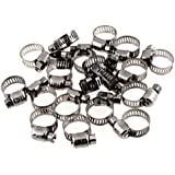 uxcell Adjustable 9mm-16mm Stainless Steel Worm Gear Hose Clamps 20 Pcs