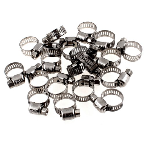 uxcell Adjustable 9mm 16mm Metal Clamps
