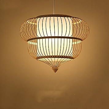 Gaohx Einfache Kreative Restaurant Lichter Bambus Rattan Gewebt