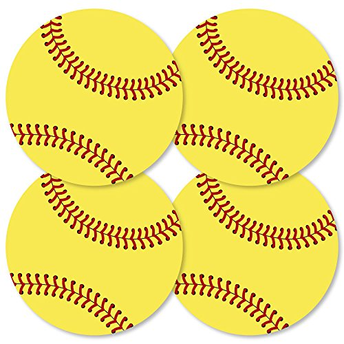 (Grand Slam - Fastpitch Softball - Decorations DIY Baby Shower or Birthday Party Essentials - Set of 20)