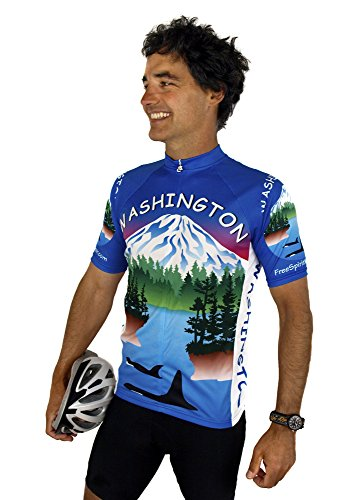 (Free Spirit Wear Washington Short Sleeve Cycling Jersey - Large)