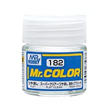Gundam Mr.color 182 - Super Clear Flat Paint 10ml. Bottle Hobby by Gunze
