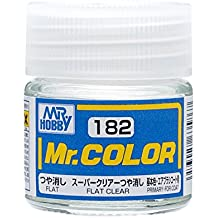 GSI Creos MR. Hobby Mr Color C182 Super Clear Flat Primary 10mL Paint