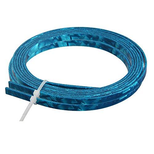 Kmise Z4857H2 2 Piece Blue Celluloid 5mm Wide Guitar Binding Purling for Luthier Maker