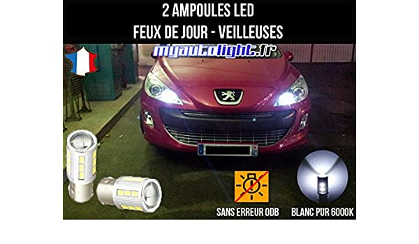Pack de faros LED de luces de circulación diurna, luces de posición, color blanco xenón: Amazon.es: Coche y moto
