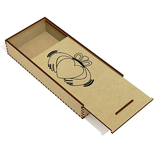Azeeda 'Claddagh Ring' Wooden Pencil Case / Slide Top Box (PC00000115)