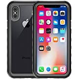 Yomole iPhone X Waterproof Case, Outdoors Full Sealed Clear Sound Protective Cover, IP68 Certified Waterproof Snowproof Shockproof Dirtproof Case with Fingerprint Touch for Apple iPhone X