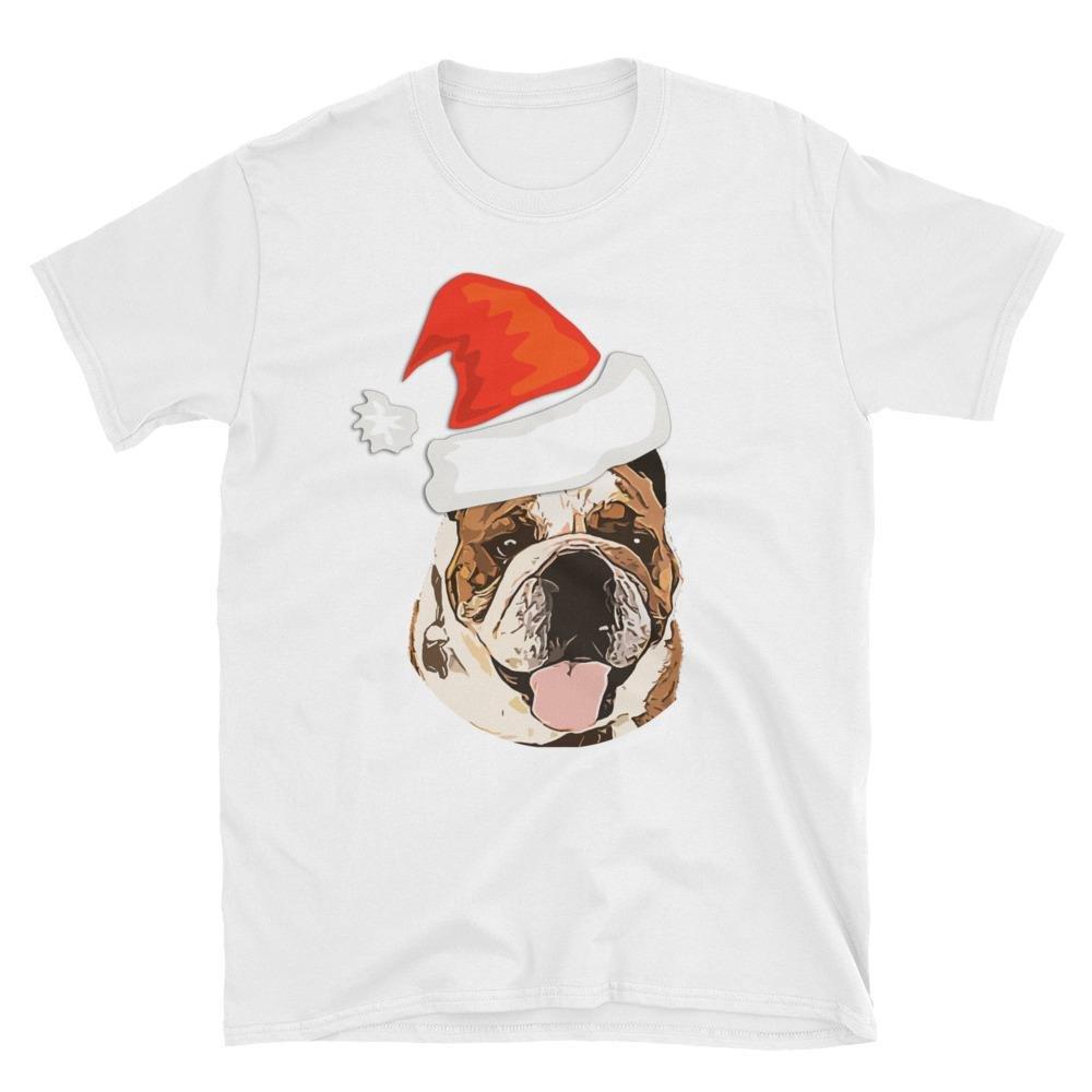 BullChimp Brand Bulldog Christmas T Shirt Fat Russell