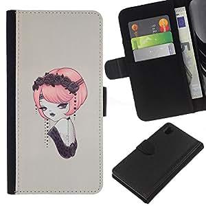 JackGot ( Pin del vintage encima ) Sony Xperia Z1 L39 la tarjeta de Crédito Slots PU Funda de cuero Monedero caso cubierta de piel