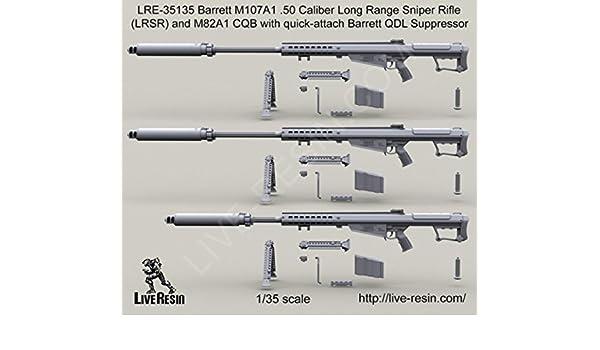 Amazon com: Live Resin 1:35 Barrett M107A1  50 Cal LRSR