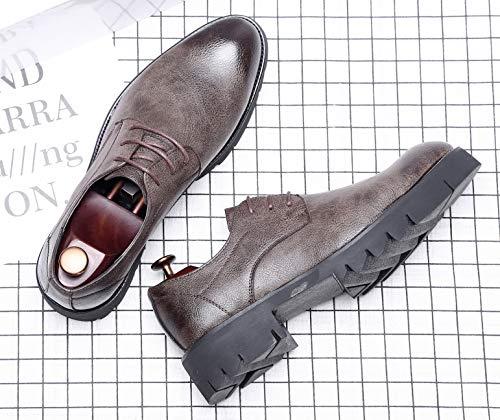 Nozze Casuale Abbigliamento Lavoro Vestito Pelle da Formali NXY Scarpe Quotidiano Scarpe Marrone Allacciare Uomo P8vwCPxq1g