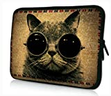 ProfessionalBags 13 inches Laptop Netbook Bag Sleeve Case Cover for 12.5 13.3 inch Apple Macbook Pro HP DELL Toshiba Acer Aspire Sony Vaio Lenovo Samsung ASUS Notebook,Funny Cat
