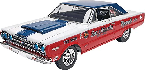 Revell  1/25 Sox & Martin '67 Plymouth GTX Plastic Model Kit - Decals Model Kits