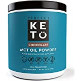 Perfect Keto Chocolate MCT Oil Powder - Ketosis Supplement to Burn Fat for Fuel Using (Medium Chain Triglycerides - Coconuts) For Ketone Energy - Paleo Natural Non Dairy Ketogenic Keto Coffee Creamer