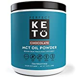 Perfect Keto MCT Oil Powder: Chocolate Ketosis Supplement (Medium Chain Triglycerides - Coconuts) for Ketone Energy - Paleo Natural Non Dairy Ketogenic Keto Coffee Creamer