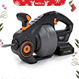 """Drain Auger, 20-Volt MAX Li-Ion, 25Ft(7m) Replaceable Flexible Shaft, Tacklife Automatic Cordless Drain Clog Remover for 3/4"""" to 2""""(19-50mm) Pipes in Diameter, Ideal Plumbing Power Tool 